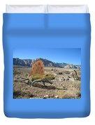 Dimetrodon In The Desert Duvet Cover