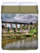 Dinan Port Brittany France Duvet Cover
