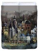 Dinant Watercolor Duvet Cover