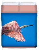 Ding Darling - Roseate Spoonbill - Taking Flight In Portrait Duvet Cover