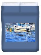 Dinghies At High Tide Duvet Cover