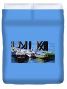 Dinghies At The Dock Duvet Cover