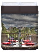 Dining With A View Duvet Cover