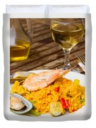 Dining With Paella Duvet Cover