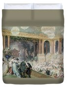 Dinner At The Tuileries Duvet Cover by Henri Baron