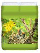 Dinner At The Warblers Duvet Cover