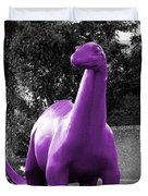 Dino Selective Coloring In Ultra Violet Purple Photography By Colleen Duvet Cover