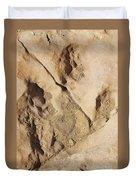 Dino Tracks In The Desert 2 Duvet Cover
