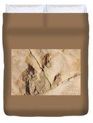 Dino Tracks In The Desert 3 Duvet Cover
