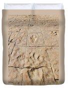 Dino Tracks In The Desert 4 Duvet Cover