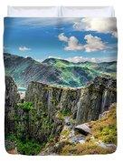 Dinorwic Slate Quarry Snowdon Duvet Cover