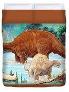 Dinosaur National Monument 140 Million Years Ago Duvet Cover