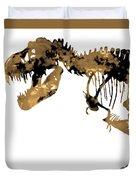 Dinosaur Sepia Print Duvet Cover