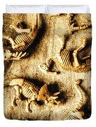 Dinosaurs In A Bone Display Duvet Cover