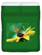 Dion On A Brown Eyed Susan Duvet Cover