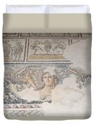 Dionysus Mosaic Mona Lisa Of The Galilee Duvet Cover by Ilan Rosen