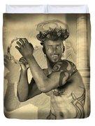 Dionysus Sepia Old Duvet Cover