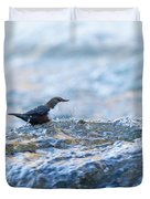 Dipper Searching For Food Duvet Cover