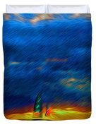 Directionless Familiar II Duvet Cover