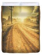 Dirt Road Sunrise Duvet Cover