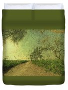 Dirt Road To The Fields Duvet Cover