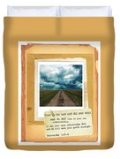 Dirt Road With Scripture Verse Duvet Cover