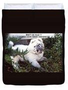 Dirty Dog Birthday Card Duvet Cover