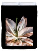 Dirty White Lily 3 Duvet Cover