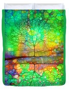 Disappearing In Colour Duvet Cover