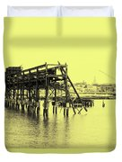 Disappearing Pier Duvet Cover