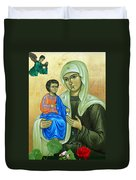Discalced Carmelite Painting Duvet Cover