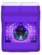 Disco Ball Purple Duvet Cover