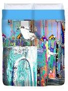 Disco Dock Seagull Duvet Cover