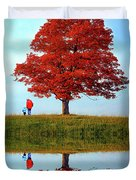 Discovering Autumn - Reflection Duvet Cover