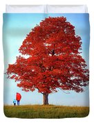 Discovering Autumn Duvet Cover