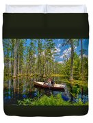 Discovery In A Cypress Swamp Duvet Cover