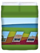 Discovery Science Center Window Reflection Duvet Cover