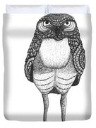 Disgruntled Owl Duvet Cover