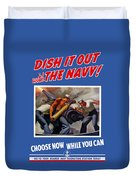 Dish It Out With The Navy Duvet Cover