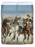 Dismounted The Fourth Troopers Moving The Led Horses Duvet Cover