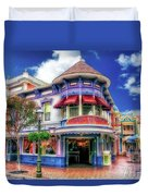 Disney Clothiers Main Street Disneyland 01 Duvet Cover