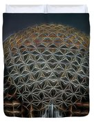 Disney Epcot Glowing At Night Duvet Cover by Ericamaxine Price