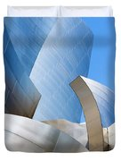 Disney Hall In Blue And Silver Duvet Cover by Lorraine Devon Wilke
