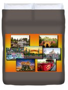 Disneyland Collage 02 Yellow Duvet Cover