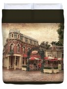 Disneyland Corner Cafe Pa Textured Duvet Cover