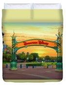 Disneyland Downtown Disney Signage 02 Duvet Cover