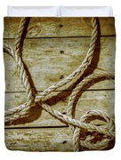 Dispatched Ropes And Voyages Duvet Cover