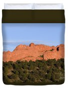 Distant Camels In The Garden Of The Gods Duvet Cover