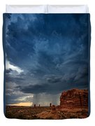Distant Desert Storm Duvet Cover