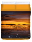 Distant Hills At Sunset Duvet Cover